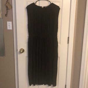 H&M pleated midi dress